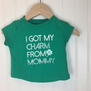 """NWT Crazy 8 """"I Got My Charm from Mommy"""" - 6-12 mo"""